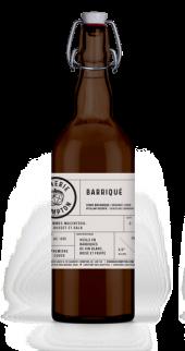 Cidre biologique le Barriqué vielli en barrique de vin blanc de la Cidrerie Compton